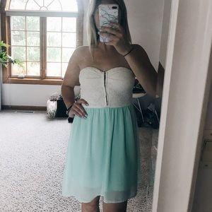 Lace mint dress